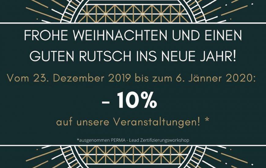 Weihnachten & Neujahr, -10% auf alle Veranstaltungen!