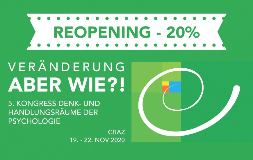 Reopening Aktion: 20 % Rabatt