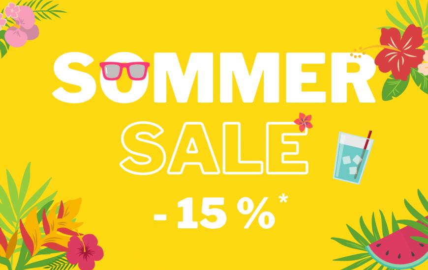 Sommer Aktion: 15 % Rabatt